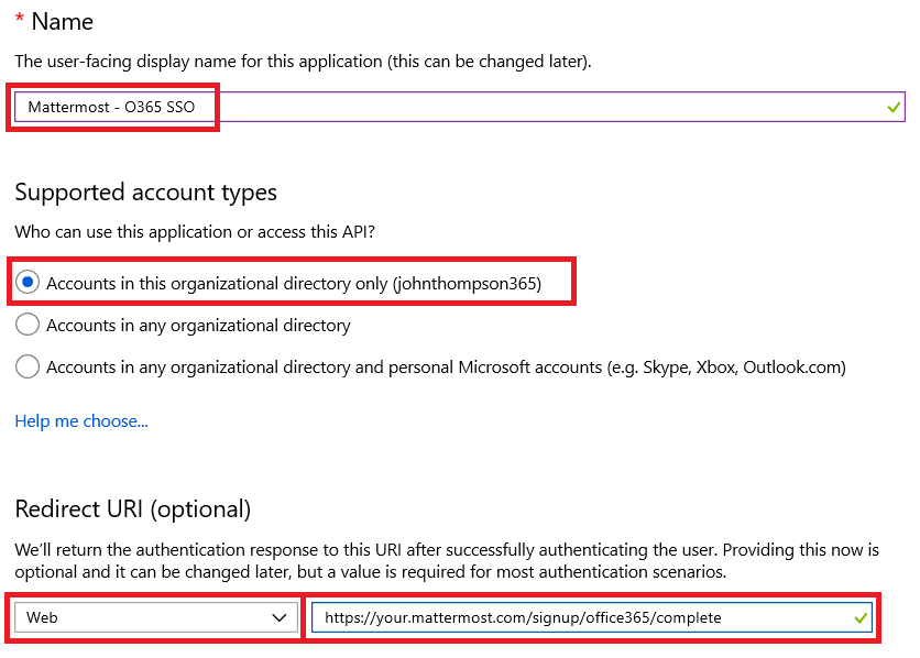 Office 365 Single Sign-On (E20) — Mattermost 5 13 documentation