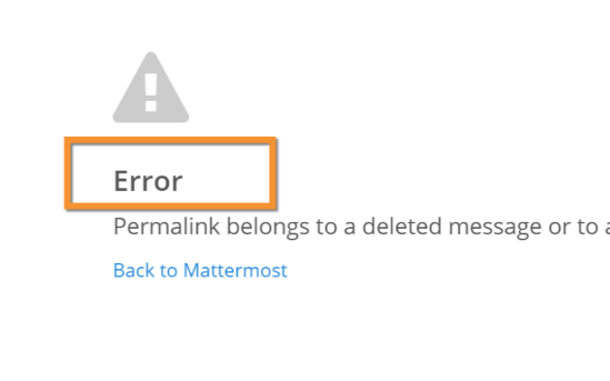Bad Error Message